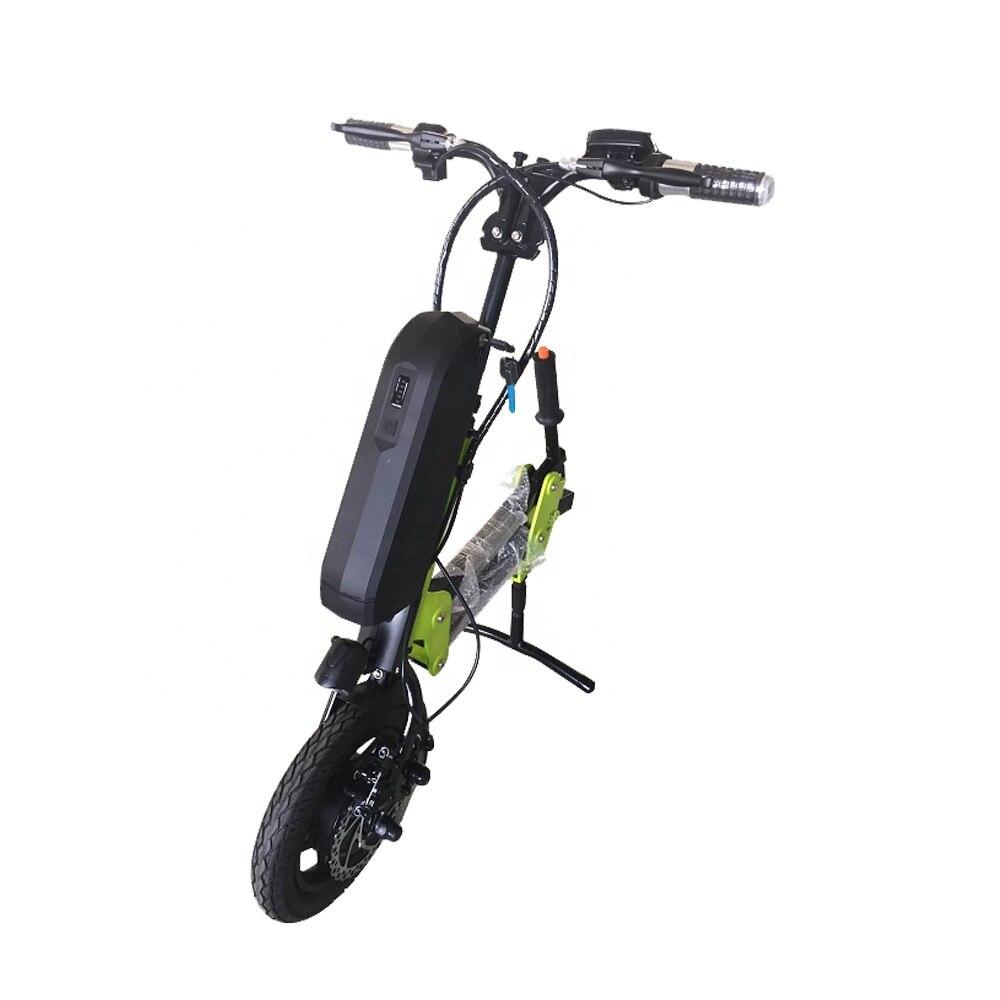 36v250w avant lecteur 12 pouces fonction électrique vélo fauteuils roulants Conversion Handcycle fauteuil roulant moteur tarif gratuit livraison