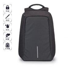 2017 paar Frauen Männer Rucksack 15 Zoll Computer Taschen Diebstahl Schwarz Grau Oxford Nachtleuchtende Atmungsaktive Gewebe Stark Mode