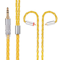 2018 NEW Yinyoo HOT 8 Core Silver Plated Cable 2.5/3.5/4.4mm Balanced Cable With MMCX/2pin Connector For LZ A5