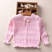 Girls Cardigan Baby Girls Sweater Children Cardigans Toddlers Coat Autumn Spring Striped Sweaters High Quality Drop Ship Sweater