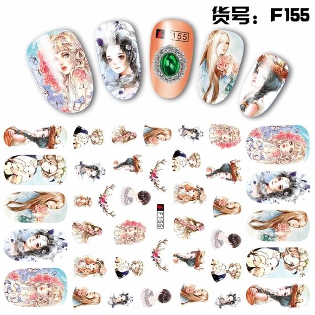 Super thin self adhensive 3d nail art nail slider sticker flower cat deer rabbit peach winter
