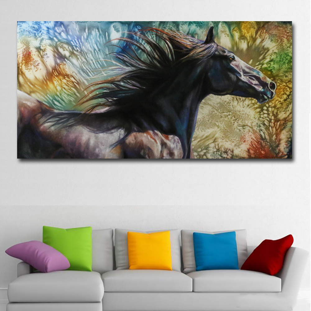 Abstract Art Prints On Canvas Us 4 51 48 Off Abstract Art Animal Horse Oil Painting Printed On Canvas Painting Wall Art Prints For Living Room Home Decor Abstract Prints In