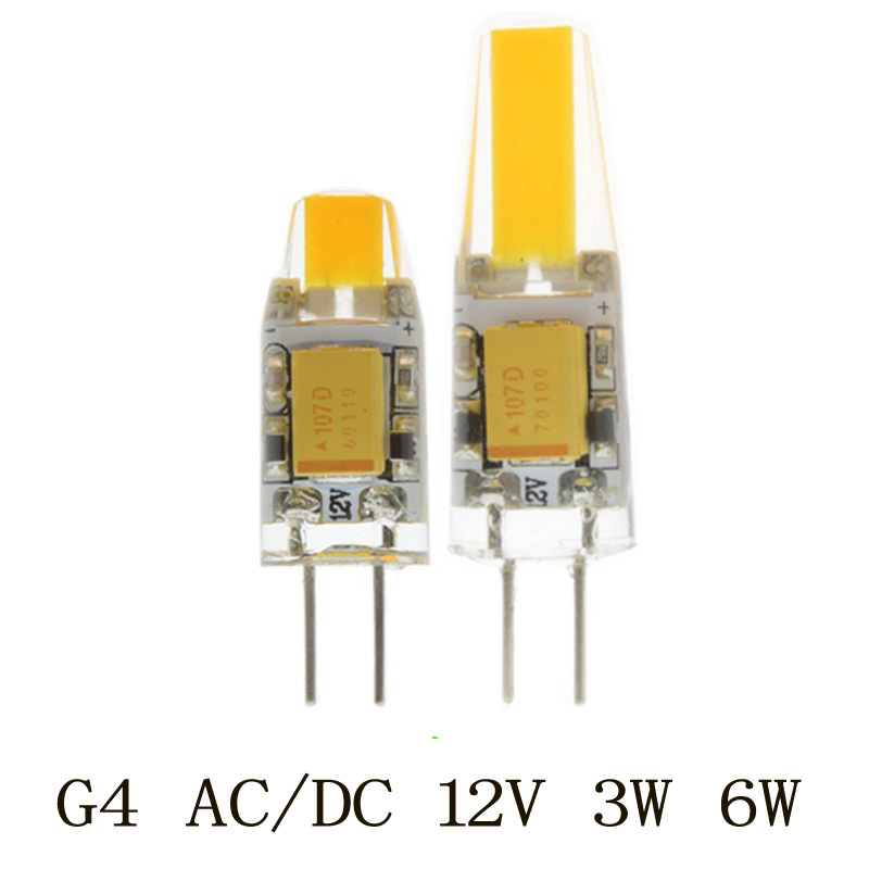 1PCS Mini G4 Led Lamp Power 3W 6W COB Light DC/AC 12V 360 Beam Lighting For Chandelier Lights Replace Halogen G4 Lamps купить