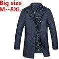 100% good High Quality 2016 autumn New Fashion Cotton Slim Plus Size 4Xl 5XL 6Xl 8xl 9xl Korea Style Suit Male Jacket Blazer Men