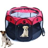 Portátil Dobrável barraca Fordable de Viagem Do Cão de Estimação da Casa de Cão de Estimação Gato Pena do Jogo Cerca Do Cão de Estimação do Filhote de Cachorro Canil Almofada de Dormir