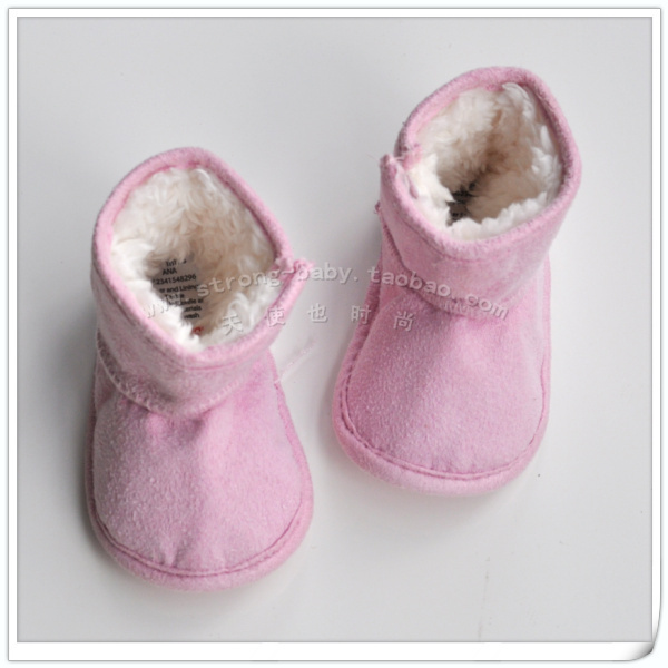 End of a single plain baby boots baby cotton-padded shoes
