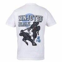Verão 2018 100% Algodão Impresso Puro Algodão Dos Homens Ninja Ninjutsu Ideal Para Treining Gymer Veste Casual Harajuku Camisetas