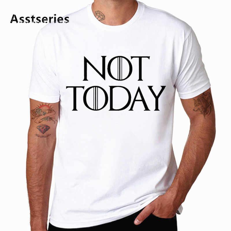 Dracarys Kaos Game Of Thrones Merek Arya Stark Tidak Hari Ini Orang Dewasa Unisex T-shirt T Shirt Camisetas Hombre Tshirt HCP4575