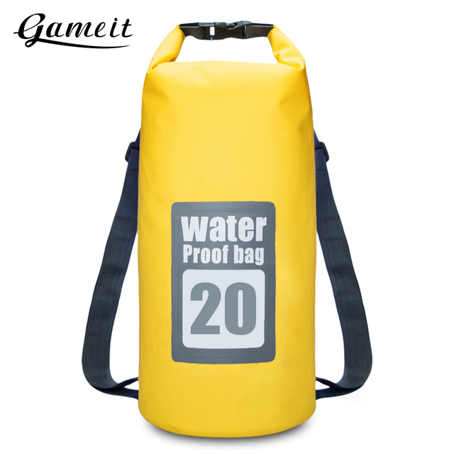 97f791fb02 Gameit 20L Outdoor Bags Water Resistant Dry Bag Roll Top Traveling Rafting Backpack  Dry Sack Storage Bag Rafting Bag Travel Kits