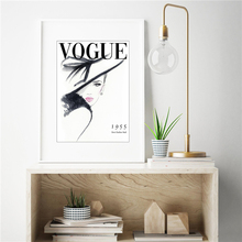 The Vogue Fashion Magazine Cove Minimalist Poster Oil Paintings On Canvas Modern Art  Wall Pictures For Living Room Home Decora
