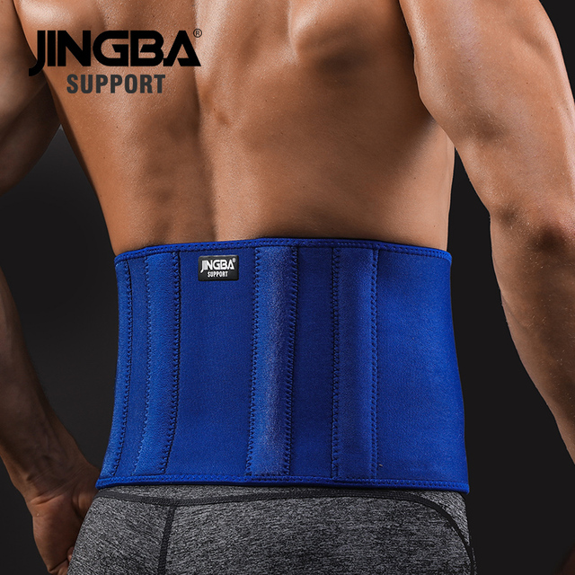 JINGBA SUPPORT Slim fit Abdominal Waist sweat belt Sports Waist trimmer Support Safety Back Support Lumbar Band Protective 2