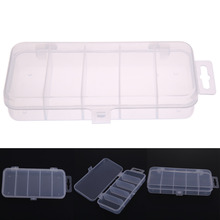 Fishing Field 5 Grids Clear Plastic Fishing Deal with Lure Bait Case Shrimp Packing containers for Fishing Equipment Gear