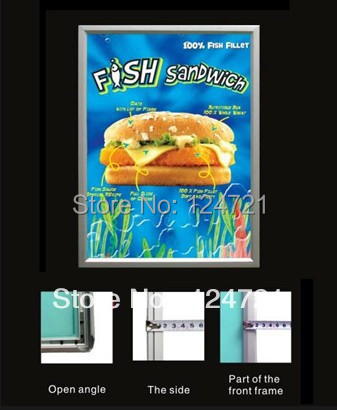 2016 New Restaurant Menu Aluminium Advertising Lightbox,Wall Mounted 600mmx700mm Size Led Poster Frame Free Shipping