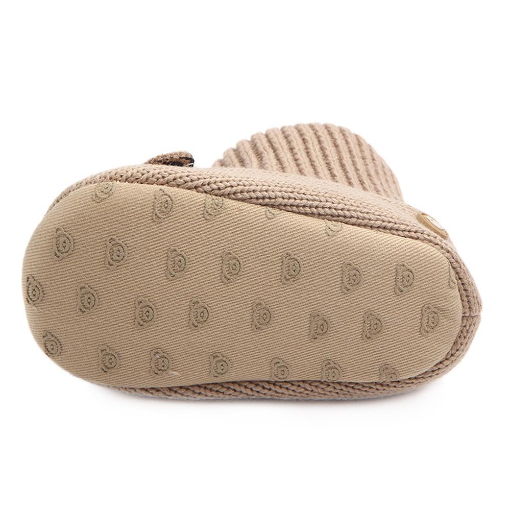 Купить с кэшбэком Baby Boots for Newborn Toddler Cartoon Crochet Socks New Style Infant Baby Girls Shoes Winter Warm Booties Support Drop Shipping
