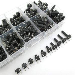 Image 2 - Kit de commutateur Tactile à bouton poussoir, 200 pièces, 6x6, bouton, à immersion 4P, 10 modèles, hauteur: 4.3 13MM