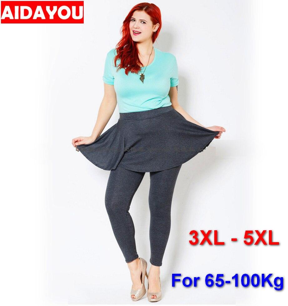 Womens Plus Size Skirt Leggings Cat Cotton Women High Elastic Stretchy 2019 Spring 5XL Legging Skirt Pants Brand Ouc1681