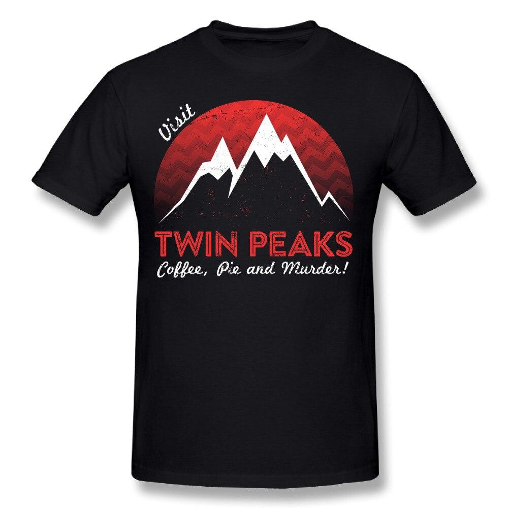 Visit Twin Peaks T-shirt Crazy Male Round Neck Design T-Shirt Summer T shirt