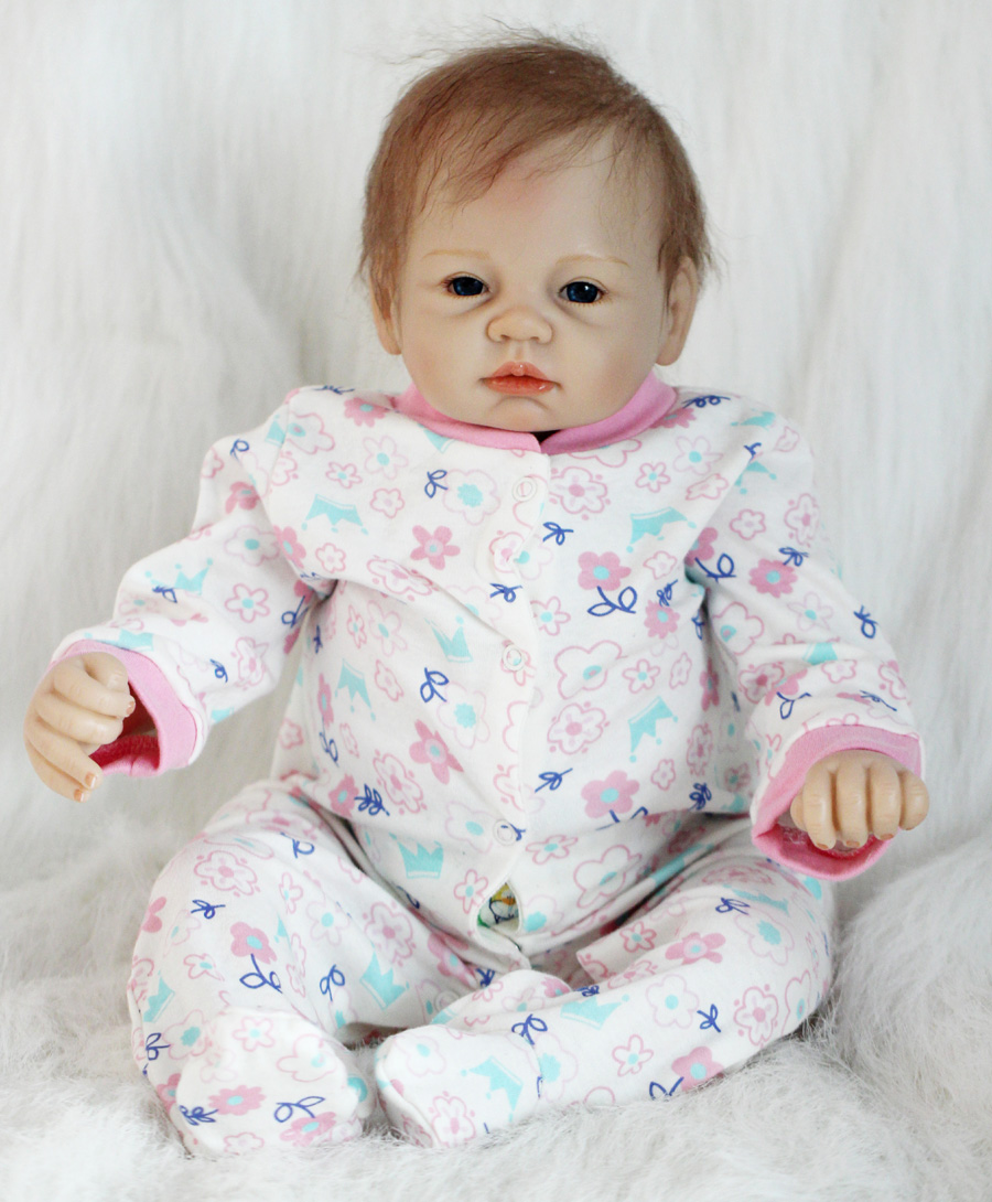 22 inch reborn baby doll toys, play house reborn girl boy babies kids child brithday Christmas gift girls brinquedos