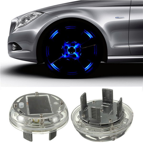 4 Modi 12 LED Auto Auto Solar Energy Rad Reifen Felge Licht Lampe Dekoration 1999-2013