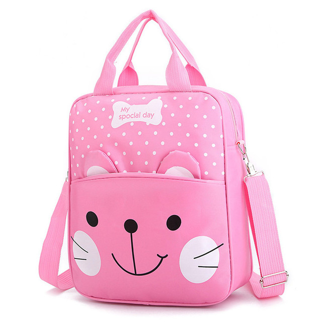 b5e7aa97eb41 Children Women Men Nylon Messenger Cute Cat Shoulder Bag Satchel Travel School  Bag Boys Girls Tablets Bags Kids mochila A8