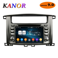 KANOR Android 9.0 Octa Core 2 Din Car Radio For Toyota Land Cruiser 100 Car Radio Audio Video Player 2 Din GPS Multimedia