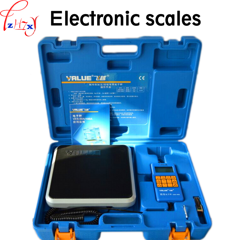 купить 1PC 9V Electronic scale VES-50A precision of the cold media is called quantitative fluorine balance scale refrigeration tools по цене 6327.85 рублей