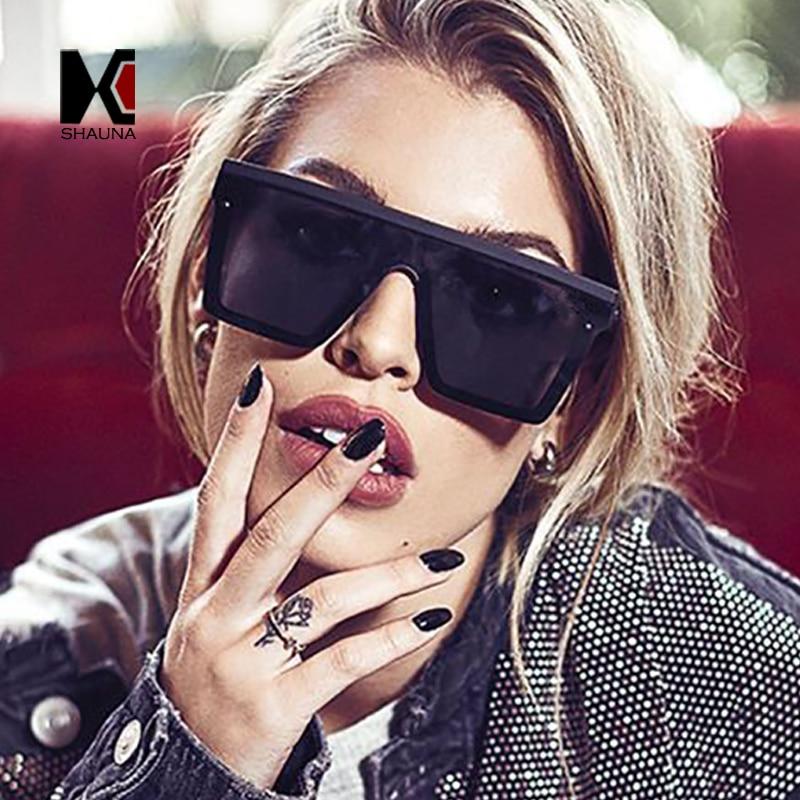 SHAUNA Flat Top Classic Square Sunglasses woman