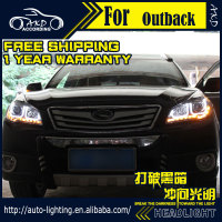 AKD Car Styling Headlight Assembly For Subaru Outback Headlights Bi Xenon LED Headlight LED DRL HID