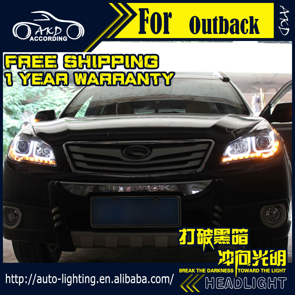 Akd car styling head lamp for subaru outback headlights legacy led headlight drl h7 d2h hid
