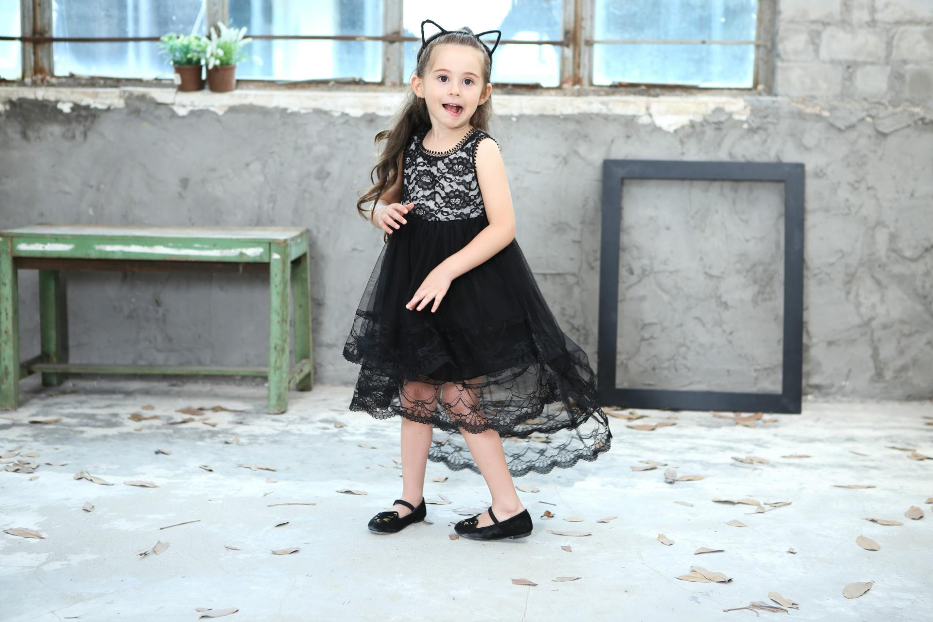 2018 New Summer Girls Ball Gown Dresses Mesh Girls Clothes Princess Wedding Party Dress Pageant Children Clothes 9