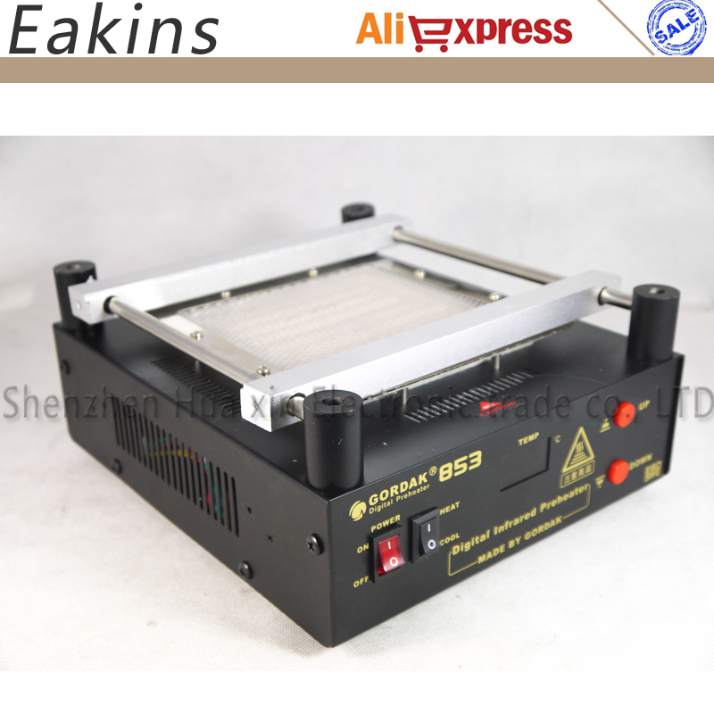 Gordak 853 Preheat station BGA rework station digital infrarred preheater for Preheat PCB desoldering IR preheating station puhui t862 irda infrared bga rework station bga smd desoldering rework station free tax to eu