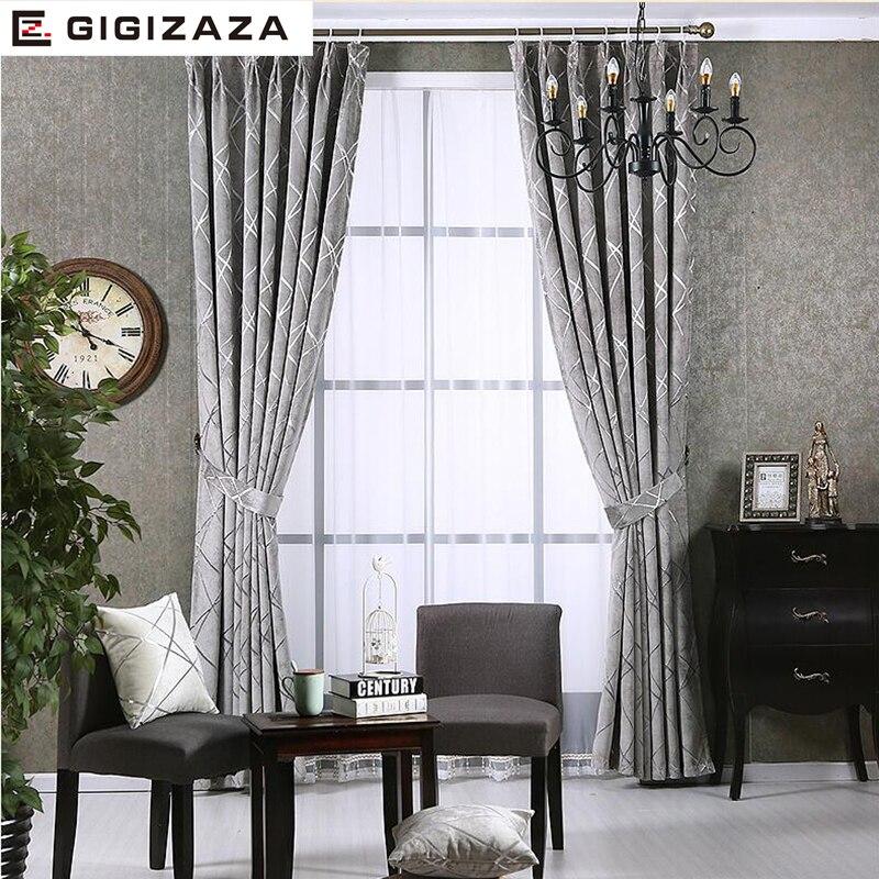 Image 2 - 遮光ジャカードカーテンリビングルームカスタムサイズアイボリーグレータンアメリカンスタイルのカーテンに窓    グループ上の ホーム