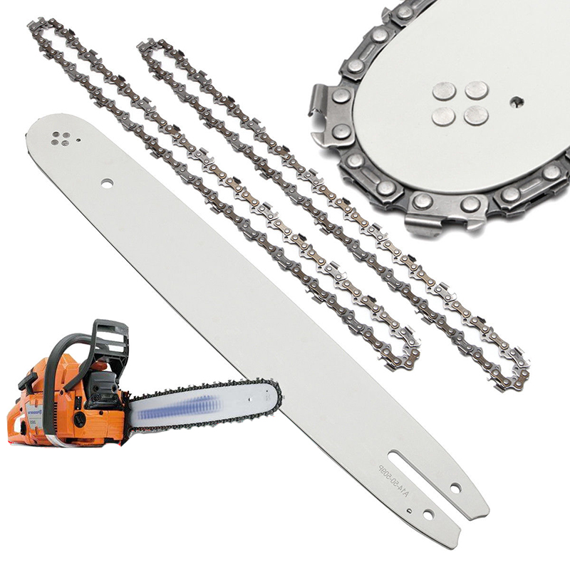 2Pcs 940mm/37 Inch Chainsaw Chains & 14 Guide Bar For Stihl Chainsaws MS170 HT70 HT75 MSE160 For Wood Cutting Chainsaw Parts