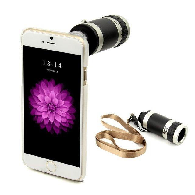 8X de zoom óptico móvel claro Universal ao ar livre telescópio Monocular telefone de volta para o iPhone 6/6