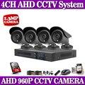 960P 4CH AHD DVR surveillance security camera system 4CH Hybrid AHD DVR P2P 4pcs 960P 1.3MP AHD security cctv camera kit night