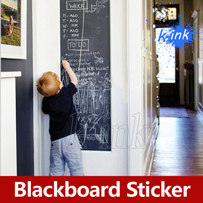 Removable Blackboard Vinyl Sticker , Vinyl Chalkboard Wall Sticker for Children Paint / Home Decoration corsair blackboard wall sticker wallpaper