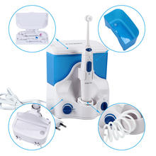 Family Electric Oral Irrigator Water Dental Flosser with 4 Tips 500ML Capacity Water Jet Floss Tooth Pick Oral Irrigation Clean(China)
