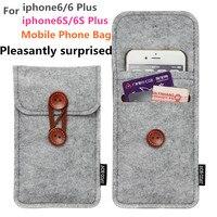 Mobile Phone Bag Cho iPhone 6 Cộng Với 5.5 inch Trường Hợp Đối Với iPhone 6 4.7 inch Túi Điện Thoại Di Động Túi Trường Hợp Trường Hợp Bìa Len Cảm Thấy ví