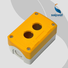 ABS Waterproof Button Switch Box  Yellow Cover  2 Holes Pushbutton Box 106*68*54mm 4.17″*2.68″*2.13″