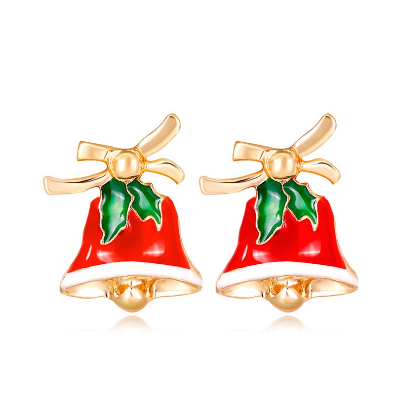 2019 New Christmas Bell stud earrings accessories For Women girl Gold Metal Earing party jewelry Happy new year Christmas gift