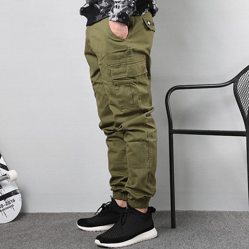 Japanese Vintage Fashion Men Jeans Loose Fit Big Pockets Casual Cargo Pants Harem Trousers Streetwear Hip Hop Joggers Pants Men 5