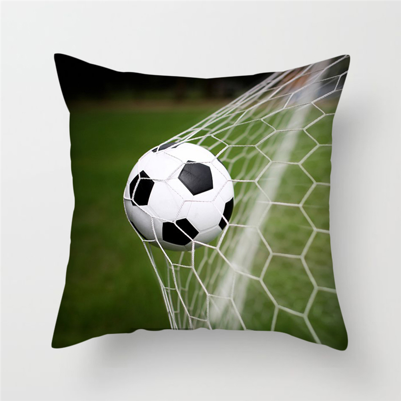 Fuwatacchi Sports Cushion Cover Shooting Football Printed Pillow Cover For Home Sofa Decoration Soft Pillowcases 45*45 Cm