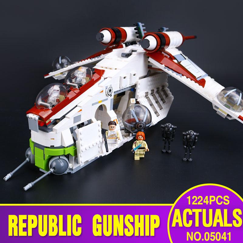 ФОТО Lepin 05041 Genuine Star War Series The The Republic Gunship Set Educational Building Blocks Bricks Toys  75021