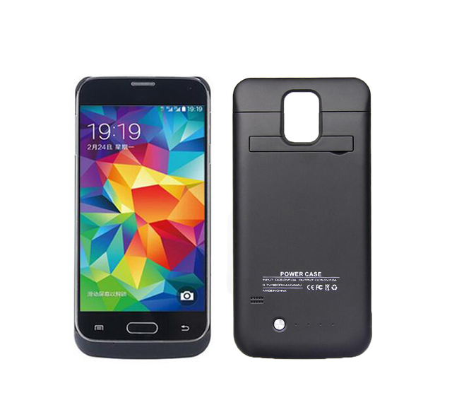Новые 3800 мАч Внешнего Резервного Питания банк сотовый телефон покрытия делам Батареи Дело зарядное устройство Для Samsung S5 i9600 Зарядное Устройство Случае