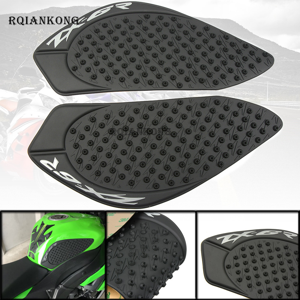 Motorbike Accessories Alert For Kawasaki Zx6r Zx-6r Zx 6r 2009-2015 2010 2011 2012 2013 2014 Motorcycle Gas Oil Fuel Tank Traction Protector Decal Sticker Motorcycle Accessories & Parts