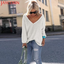 Sweater women Autumn winter loose long sweater tops Fashion pullovers sweaters jumper Stoffe a maglia Camisola de Malha 118