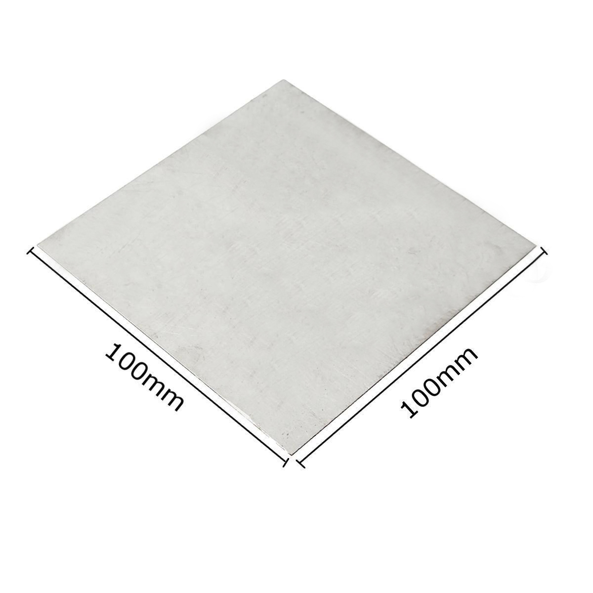 1pc 100mmx100mm TC4/GR5 ASTM B54 Metal Thin Titanium Plate 0.5mm Thickness Ti Sheet Foil 1pc tc4 gr5 titanium metal plate thin ti sheet foil 0 5mmx100mmx100mm for industry tool