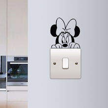 Children Kids Room Light Switch Sticker Minnie Mouse Wall Cute Removable Poster Murals Beauty Decor W25