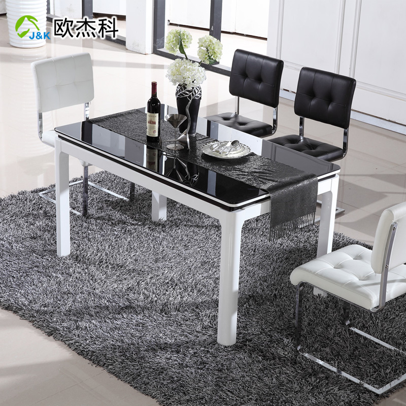 Us 5728 36 Oujie Ke Combination Of Modern Minimalist Ikea Glass Paint Small Apartment Dinette Table Port To Port By Sea In Dining Tables From