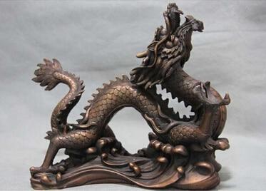 Antique bronze pur cuivre laiton 9.5 pur rouge cuivre Bronze signo sorte auspicioso Dragon Statue arteAntique bronze pur cuivre laiton 9.5 pur rouge cuivre Bronze signo sorte auspicioso Dragon Statue arte